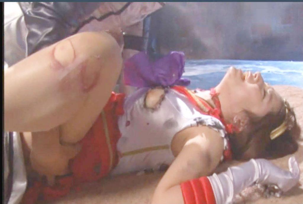 強引に犯されているのに美少女ヒーローはベロチューまでしてしまう☆快楽地獄に負けてしまいアヘ顔さらす