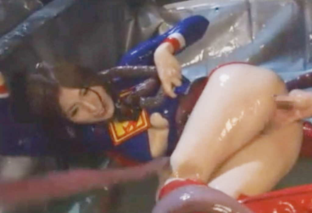 ローションまみれになってヌルヌルに犯されてしまう美少女変身ヒロイン☆手マンでマン汁を垂れ流してしまう屈辱