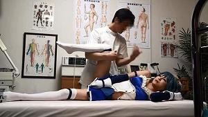 《アニコス》青髪の魔法少女がエロマッサージで施術開始